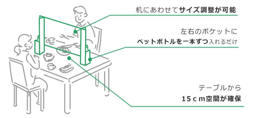 机にあわせてサイズ調整が可能